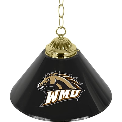 Trademark Global® 14 Single Shade Bar Lamp, Black, Western Michigan University™ NCAA