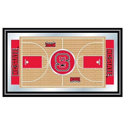 Trademark Global® 15 x 26 Black Wood Framed Mirror, North Carolina State Basketball