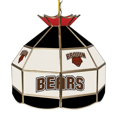 Trademark Global® 16 Stained Glass Tiffany Lamp, Brown University NCAA