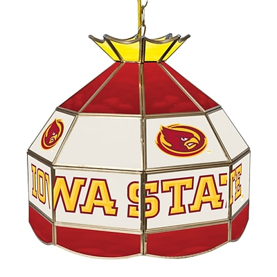 Trademark Global® 16 Stained Glass Tiffany Lamp, Iowa State University NCAA