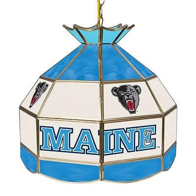 Trademark Global® 16 Stained Glass Tiffany Lamp, University of Maine NCAA