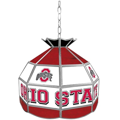 Trademark Global® 16 Stained Glass Tiffany Lamp, The Ohio State NCAA