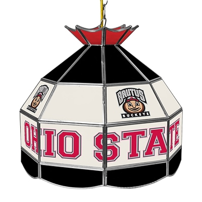 Trademark Global® 16 Stained Glass Tiffany Lamp, The Ohio State NCAA, Brutus
