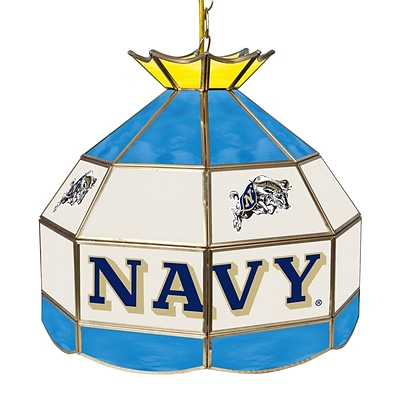 Trademark Global® 16 Stained Glass Tiffany Lamp, U.S. Naval Academy NCAA