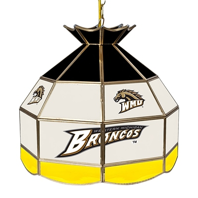 Trademark Global® 16 Stained Glass Tiffany Lamp, Western Michigan U NCAA