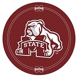 Trademark Global® NCAA® 28 Solid Wood/Chrome Pub Table, Brown, Mississippi State University