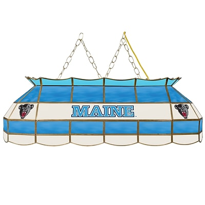 Trademark Global® 40 Stained Glass Tiffany Lamp, University of Maine™ NCAA