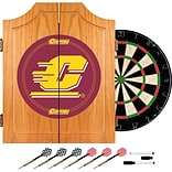 Trademark Global® Solid Pine Dart Cabinet Set, NCAA Central Michigan University