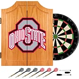 Trademark Global® Solid Pine Dart Cabinet Set, NCAA Ohio State University