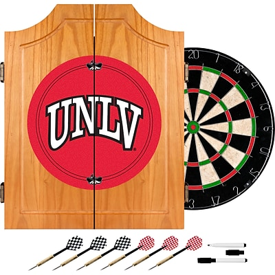 Trademark Global® Solid Pine Dart Cabinet Set, NCAA UNLV™