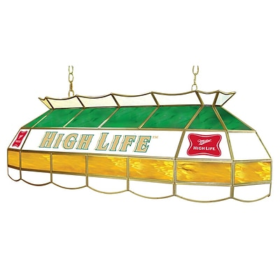 Trademark Global® 40 Stained Glass Lighting Fixture, Miller High Life