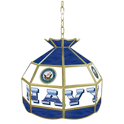 Trademark Global® 16 Stained Glass Tiffany Lamp, United States Navy
