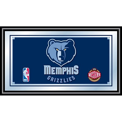 Trademark Global® 15 x 27 Black Wood Framed Mirror, Memphis Grizzlies NBA