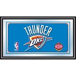 Trademark Global® 15 x 27 Black Wood Framed Mirror, Oklahoma City Thunder NBA