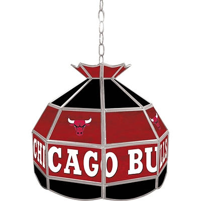 Trademark Global® 16 Tiffany Lamp, Chicago Bulls NBA