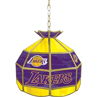 Trademark Global® 16 Tiffany Lamp, Los Angeles Lakers NBA