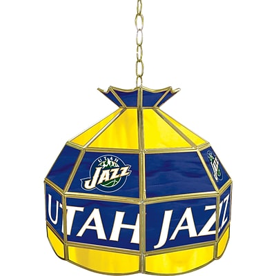 Trademark Global® 16 Tiffany Lamp, Utah Jazz NBA