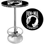Trademark Global® 28 Solid Wood/Chrome Pub Table, Black, POW