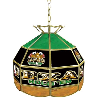 Trademark Global® 16 Stained Glass Tiffany Lamp, Exas Hold em