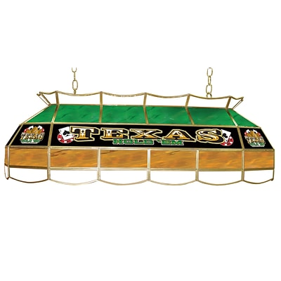 Trademark Global® 40 Stained Glass Lighting Fixture, Texas Hold em