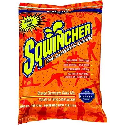 Sqwincher Concentrated Activity Drink, Orange, 47.66 oz., 5 gallons
