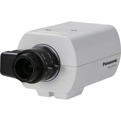 Panasonic® WV-CP310 Fixed Analog Camera With Electrical Day/Night; 1/3 CCD