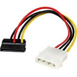 StarTech 6 4-Pin Molex/Left Angle SATA Power Cable Adapter
