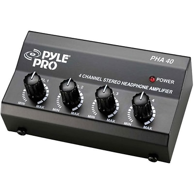 Pyle® PHA40 4 Channel Stereo Headphone Amplifier