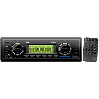 Pyle® PLMR86B AM/FM-MPX Electronic Tuning Radio MP3 Audio Player With USB/SD/MMC; Black