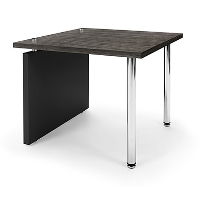 OFM™ Profile Series Laminated End Table With Steel Tube Legs, Asian Night/Black Leg Panel