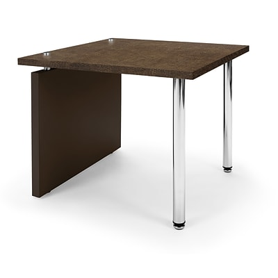 OFM™ Profile Series Laminated End Table With Steel Tube Legs, Windswept Bronze/Brown Leg Panel