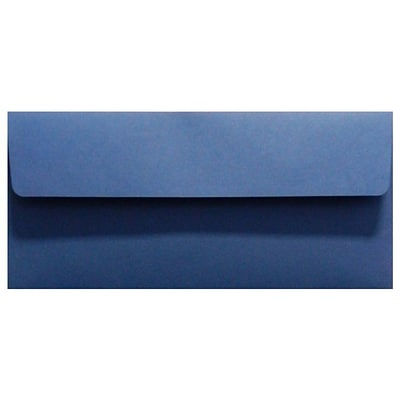 LUX® 80lbs. 4 1/8 x 9 1/2 #10 Smooth Square Flap Envelopes, Navy Blue, 1000/BX