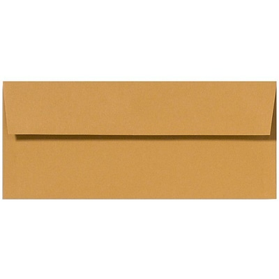 LUX® 70lbs. 4 1/8 x 9 1/2 #10 Square Flap Envelopes, Ochre Brown, 1000/BX