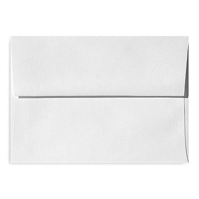 LUX® 70lbs. 3 5/8 x 5 1/8 A1 Invitation Envelopes W/Peel & Press, White Linen, 1000/BX