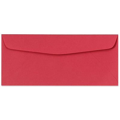 LUX® 60lbs. 4 1/8 x 9 1/2 #10 Bright Regular Envelopes, Holiday Red, 250/BX