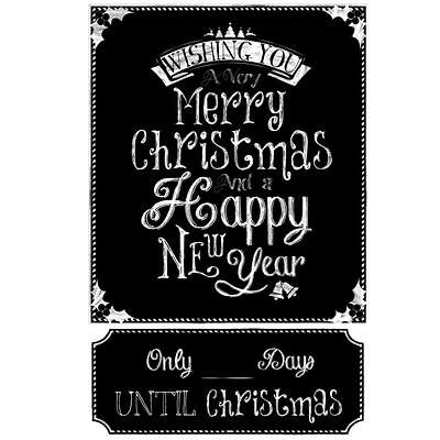 RoomMates® Christmas Countdown Chalkboard Peel and Stick Wall Decal, 27 x 40