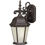 Aurora® 18 1/4 x 9 1/2 26 W1 Light Outdoor Lantern W/Frosted Seeded Glass Shade, Painted Rust