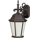 Aurora® 16 x 8 1 Light Outdoor Lantern W/Frosted Seeded Glass Shade and 9 1/2 EXT, Painted Rust