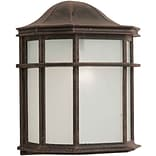 Aurora® 10 x 8 75 W 1 Light Outdoor Lantern W/White acrylic Panel Shade, Painted Rust