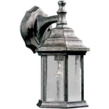 Aurora® 12 x 6 1/2 100 W 1 Light Outdoor Lantern W/Clear Seeded Glass Shade, River Rock