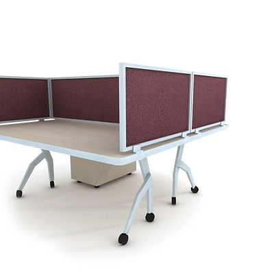 Obex Acoustical Desk Mount Privacy Panel W/AL Frame; 24 x 42, Vintage