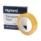 3M™ Highland™ 1 x 2592 Transparent Tape; Clear