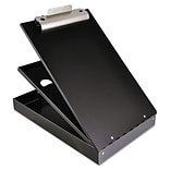 Saunders® 1 Capacity Cruiser-Mate Aluminium Storage Clipboard; Black