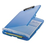 Officemate® 1/2 Capacity Plastic Slim Clipboard Storage Box; Blue