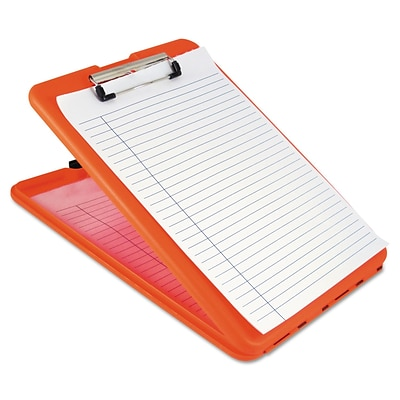 Saunders® 1/2 Capacity Polypropylene SlimMate Storage Clipboard; Orange