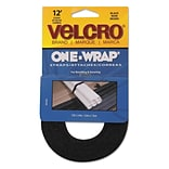 Velcro® One-Wrap Adhesive Strap; Black