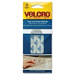Velcro® 3/4 x 1/2 Hook to Hook Fastener; Clear, 72/Pack