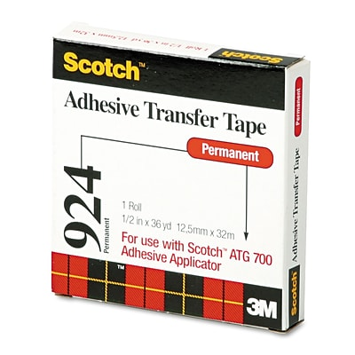 3M™ Scotch 1/2 x 36 yds. Adhesive Transfer Tape; Clear