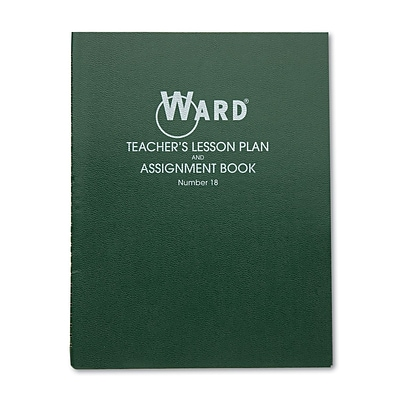 Hubbard Company Ward Teachers 8-Period Lesson Plan Book; Green