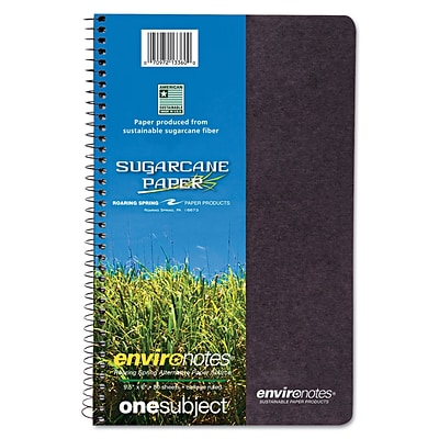 Roaring Spring Environotes BioBased Earthtones 1-Subject Notebook, 6 x 9.5, College Ruled, 80 Sheets, Green (13360)